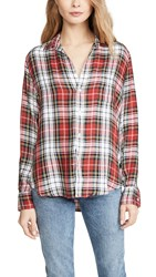 Frank And Eileen Button Down Shirt White Red Yellow Multi