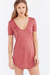 Truly Madly Deeply Deep V Tee Light Red