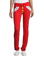 Wildfox Couture Button Printed Fitted Pants Marinara