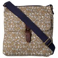 Fat Face Ditzy Floral Canvas Across Body Bag Mustard