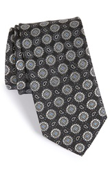 John W. Nordstrom 'Nasco' Medallion Silk Tie Black