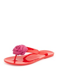 Fayette Flower Jelly Thong Sandal Red Kate Spade New York