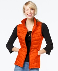 Inc International Concepts Packable Puffer Vest Only At Macy's Orange Lava