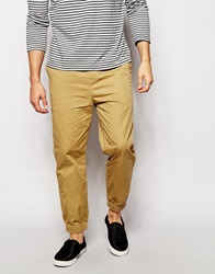 Pull And Bear Pullandbear Cuffed Trousers Beige