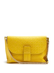 Loewe Avenue Leather Cross Body Bag Yellow