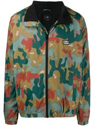 Obey Camouflage Print Jacket Green