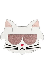 Karl Lagerfeld Cat Fun Face Faux Leather Clutch