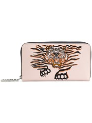 Kenzo Geo Tiger Wallet Pink And Purple