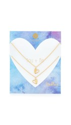 Gorjana You Me Heart Necklace Set Gold