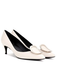 Roger Vivier Decollete Sexy Leather Pumps White