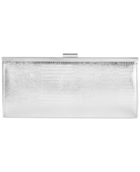 Style And Co. Carolyn Exotic Clutch Silver