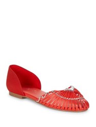 Fergie Strappy Dorsay Flats Red