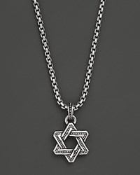 Scott Kay Men's Sterling Silver Beaded Star Of David Necklace 21