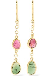 Pippa Small 18 Karat Gold Tourmaline Earrings