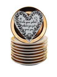 Fornasetti Message Coasters Black