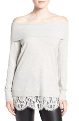 Chelsea 28 Women's Chelsea28 Layered Look Off The Shoulder Sweater
