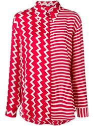 Stella Mccartney Multi Pattern Shirt Red