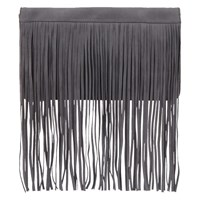 Mint Velvet Fringed Clutch Bag Grey Amber