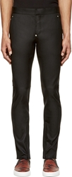 Givenchy Black Leather Skinny Trousers