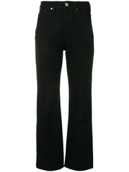 Gold Sign Goldsign Mid Rise Straight Trousers Black