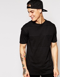 Pull And Bear Pullandbear T Shirt With Cut And Sew Black