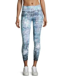 The Balance Collection Graphic Print Crop Leggings Black White