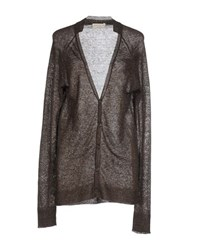 Ma'ry'ya Knitwear Cardigans Women Dark Brown