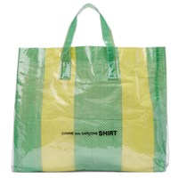 Comme Des Garcons Shirt Green And Yellow Pvc Picnic Tote