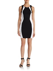 David Lerner Colorblock Body Con Dress Black White