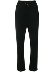 Woolrich High Rise Track Pants Black