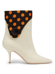 Malone Souliers X Emanuel Ungaro Marisa Leather Boots Black Yellow