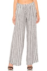 Bella Dahl Pleated Front Wide Leg Pant Gray