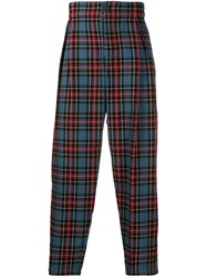 Ymc Tartan Print Tapered Trousers 60