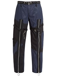 Marques Almeida Patchwork Twill Trousers Black Navy