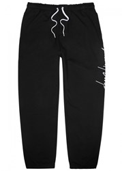 Second Layer Script Embroidered Jersey Jogging Trousers Black