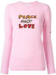 Bella Freud Peace And Love Sweater Pink