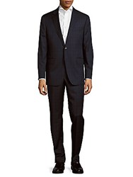 Todd Snyder Classic Fit Windowpane Wool Suit Navy