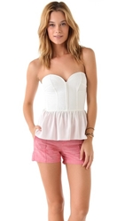Parker Strapless Bustier Top White