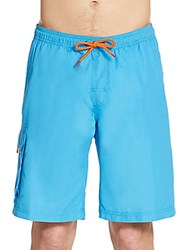 Saks Fifth Avenue Cargo Swim Shorts Medium Blue