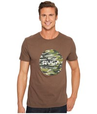 Rvca Water Camo Motors Tee Chocolate T Shirt Brown