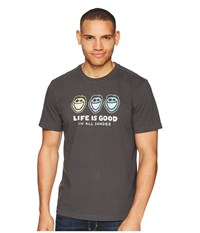 Life Is Good Jake In All Shades Crusher Tee Night Black T Shirt