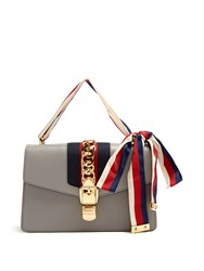 Gucci Sylvie Leather Shoulder Bag Dark Grey