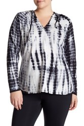 The Balance Collection Tie Dye Hoodie Plus Size Black