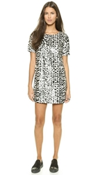 J.O.A. Sequin Jungle Dress Black White
