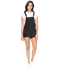 Blank Nyc Black Cut Off Overalls In Rock Steady Rock Steady Women's Overalls One Piece Gray
