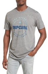 Rip Curl Men's Smasher Graphic T Shirt Platinum