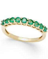 Macy's Emerald Thin Band 1 2 Ct. T.W. In 18K Gold Vermeil Green
