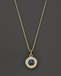 Ippolita 18K Lollipop Mini Pendant Necklace In London Blue Topaz With Diamonds 1618