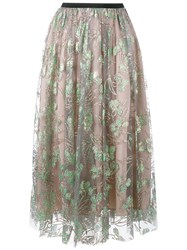 Msgm Tulle Midi Skirt Nude And Neutrals