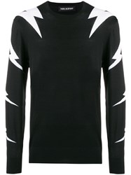 Neil Barrett Thunderbolt Sweater Black